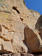 "Rock Climbing Photo: Pitch 1 of ""Push"" bolted anchor on the l..."