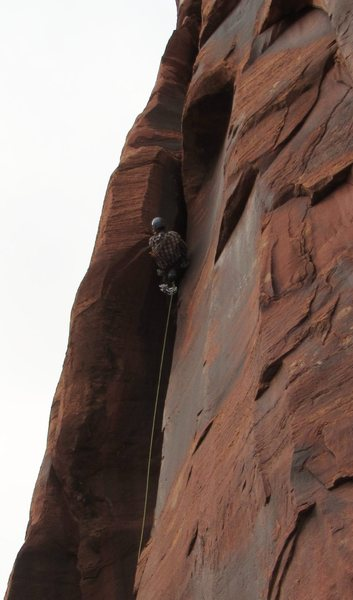 Rock Climbing Photo: Pulling into the slot.