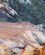 Rock Climbing Photo: Runout section of pitch 1 on breakaway