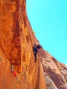 Rock Climbing Photo: Breakaway crux area on pitch 2