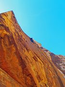 Rock Climbing Photo: Higher up in the Breakaway plated face pitch