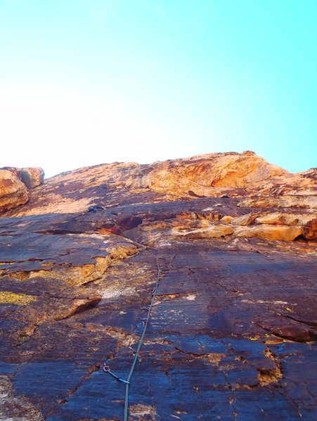 Rock Climbing Photo: Some cool route in Lost creek. Wish I could have f...