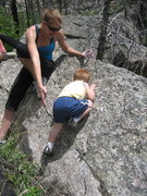 Rock Climbing Photo: baby bouldering