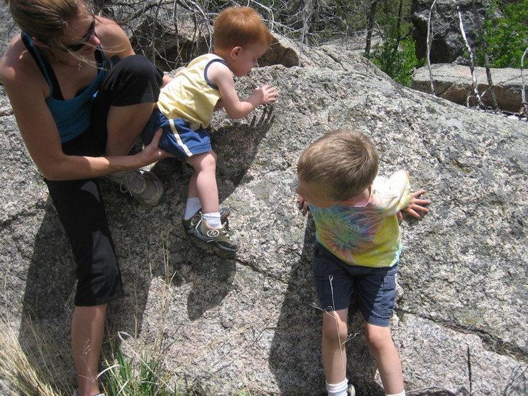 Rock Climbing Photo: more baby bouldering