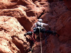Rock Climbing Photo: West Side Story - Cottontail Tower - Fisher Towers...