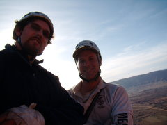Rock Climbing Photo: Bill and I on the top. West Side Story - Cottontai...