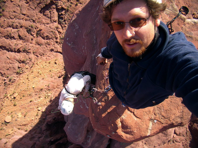 Rock Climbing Photo: Self portrait. West Side Story - Cottontail Tower ...