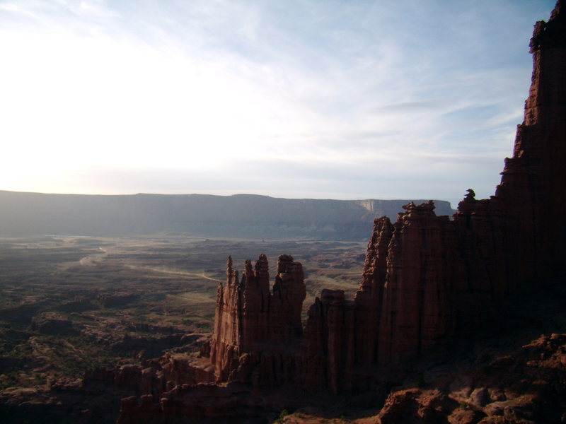 Diminishing light. West Side Story - Cottontail Tower - Fisher Towers, UT - With Bill Duncan - March 26th and 27th 2012.