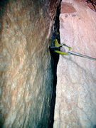 Rock Climbing Photo: Calcite deposits on North Chimney - Castleton Towe...