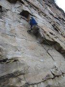 Rock Climbing Photo: Just before the business starts on Graffiti