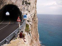 Rock Climbing Photo: Capo Noli tunnel.