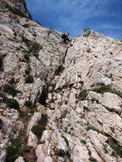 Rock Climbing Photo: Initial rappel at Nolitudine