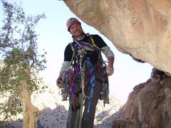 Rock Climbing Photo: starting a new line on aid