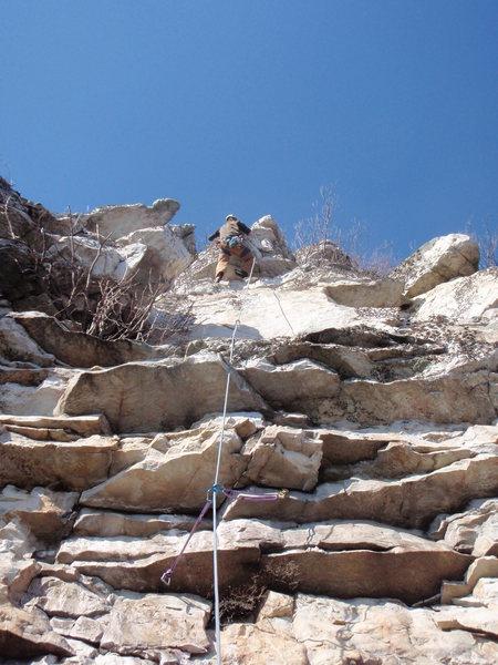 Rock Climbing Photo: Dan on FA.