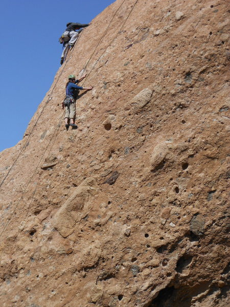 Rock Climbing Photo: Climbers on the Egg. The climber in the foreground...
