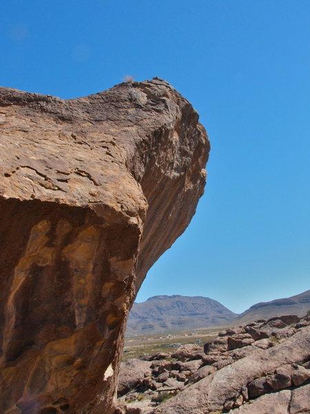 Rock Climbing Photo: North Mountain at Hueco Tanks