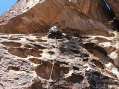 Rock Climbing Photo: Lead climbing at Hueco Tanks to the utter amazemen...