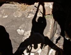 Rock Climbing Photo: Shadows at Hueco Tanks