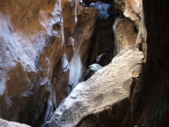 Rock Climbing Photo: Chasm on North Mountain Hueco Tanks