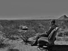 Rock Climbing Photo: Dessert car seat at Hueco Rock Ranch