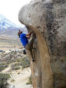 Rock Climbing Photo: Below the roof.