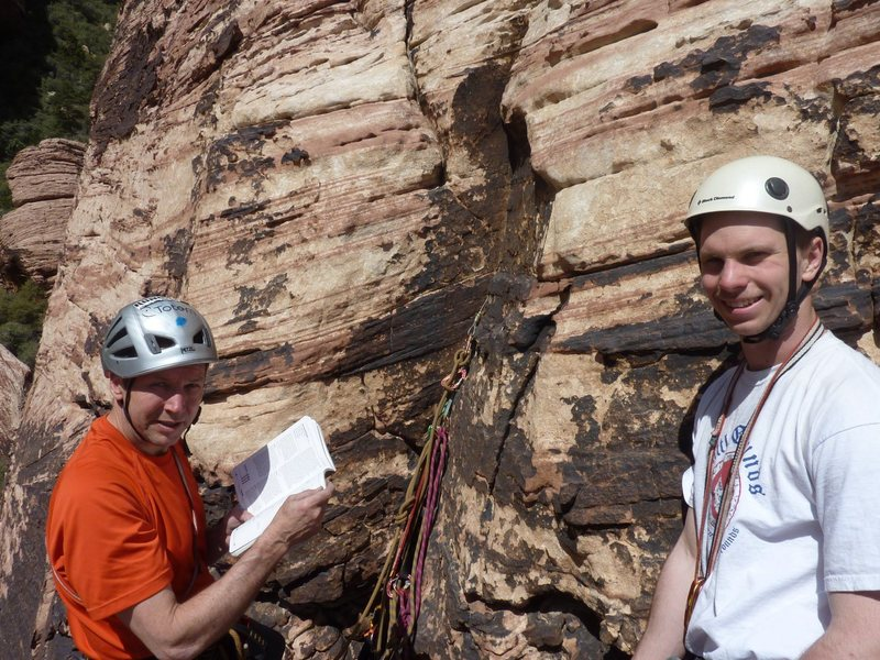 Rock Climbing Photo: Second belay on one armed bandit. Nice to have the...