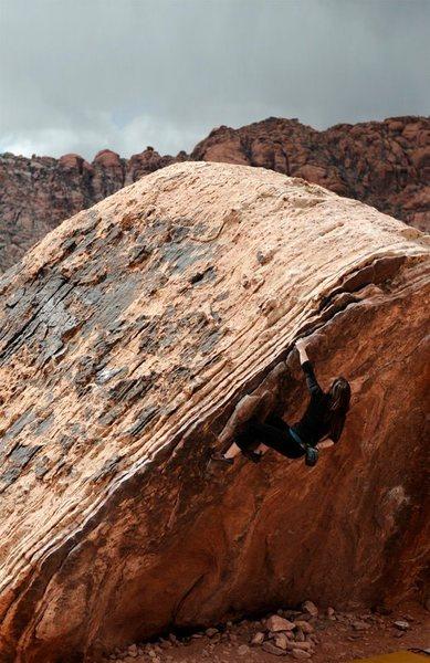 Rock Climbing Photo: Bri on Poker Chips