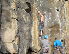 Rock Climbing Photo: About to get into the business of Hang Overhang.  ...