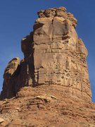 Rock Climbing Photo: South Face of Hidden Tower. Route starts up smalli...