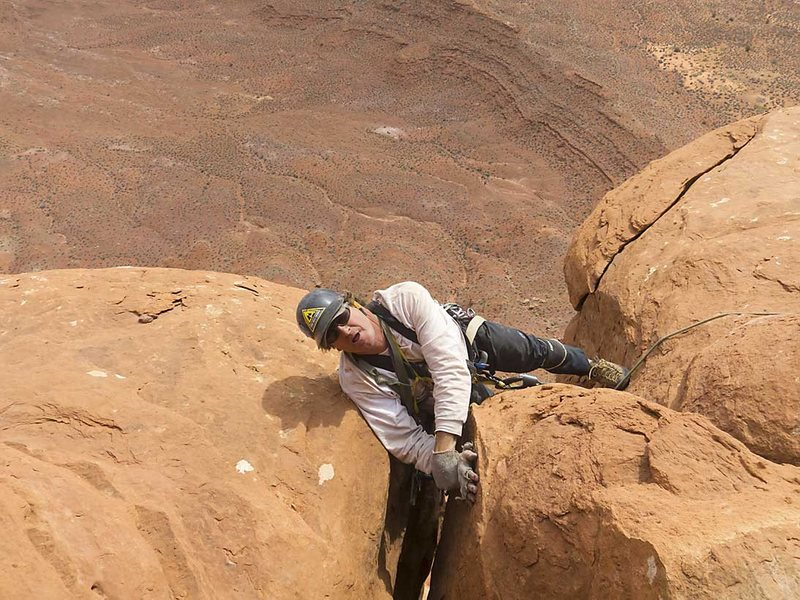 Chip puling round the final roof on pitch 3