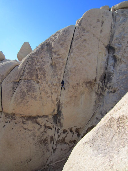 Rock Climbing Photo: This one should be easy. The huecos at the bottom ...