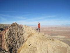 Rock Climbing Photo: Shingo ready for take off.photo Andy Ross