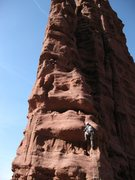 Rock Climbing Photo: Alan Ream climbing pitch 5 - the first pitch from ...