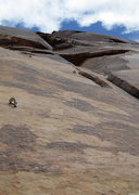 Rock Climbing Photo: Pitch Two. Technical, balancing moves up to the ro...