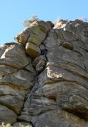 Rock Climbing Photo: Entering the wide crack at the top