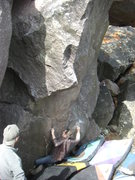Rock Climbing Photo: The Gentleman on the opening move.