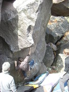 Rock Climbing Photo: Aaron getting into Smooth Operator.
