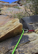 Rock Climbing Photo: Pitch one. A general overview of the entire 80 foo...