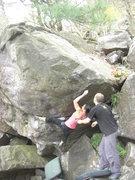 Rock Climbing Photo: Team Schultz.  Katie working her short beta.  V8+ ...