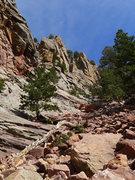 Rock Climbing Photo: Shirt Tail gully between Rincon and W Ridge.