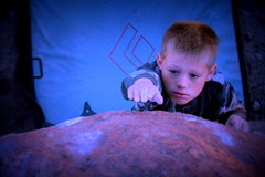 Rock Climbing Photo: My son Brig going for it in Oak Flat