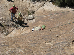 Rock Climbing Photo: Coda climbing with Cody on Belay w/ Colton advisin...