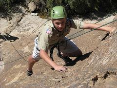 Rock Climbing Photo: Coda topping out