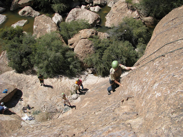 Rock Climbing Photo: Cody nearing the top w/ coda on belay