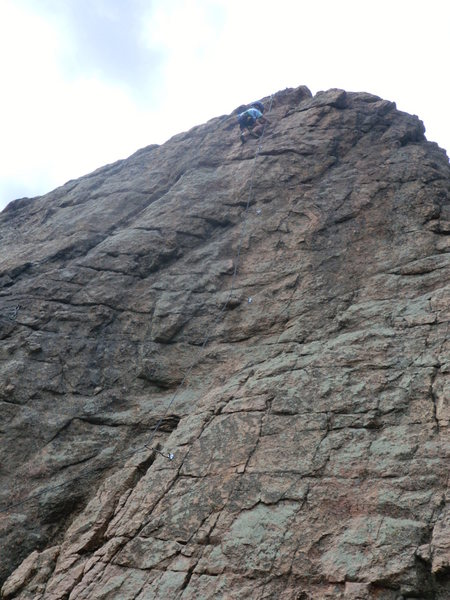 Rock Climbing Photo: Garrett Gillest, age 6, nearing the topout on &quo...