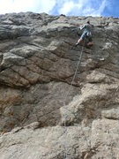 "Rock Climbing Photo: Pulling the lip, nearing the last bolt on ""Wa..."