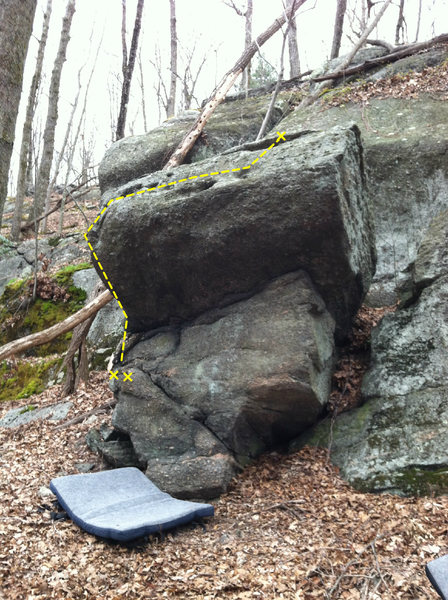 Rock Climbing Photo: Ant Farm - After pulling away the start hold and n...
