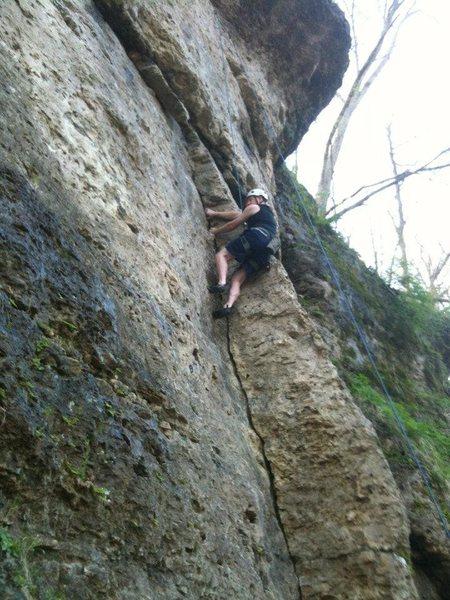 Rock Climbing Photo: Having fun on Collin's Crack!