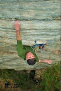 Rock Climbing Photo: Vascular Disaster 5.11c Moores Wall, NC