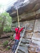 Rock Climbing Photo: White Ninja prepares for big send.